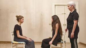 Gaia Grace och Margherita Mazzucco övar