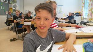 Viggo Bergvik på Stenbackens skola.