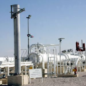 Vita stora gasledningar i Syrien.
