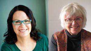 Sirpa Kyyrönen ja Liisa Enwald