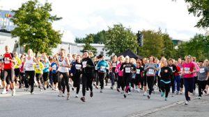Kvinnor springer i ett motionslopp