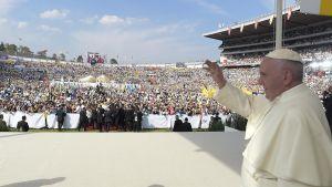 Påven Franciskus under ett besök i Mexiko