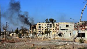 Stadsdelen Masaken Hanano som armén intog i lördags var det första och största distriktet i Aleppo som rebellerna intog år 2012