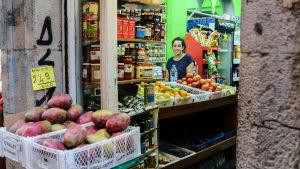 Frukthandlare i Bilbao.