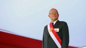 President Pedro Pablo Kuczynski deltog i en ceremoni vid landets militärakademi den 14 december.