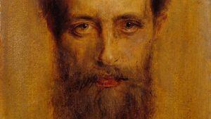 Franz von Lenbach: Kopf des Dirigenten Hermann Levi, 1882. Öl auf Pappe.