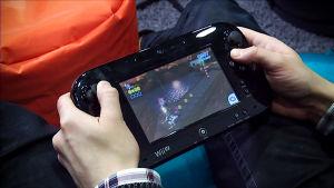 Wii-pelikonsolilla pelataan viihdepeliä