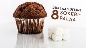suklaamuffini ja sokeripalat