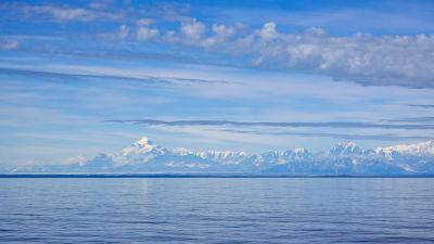 Wrangell Mountains-bergskedjan i nordvästra Kanada.
