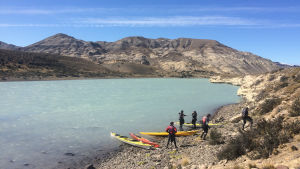 På paddlingstur i Patagonien
