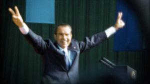 Richard Nixon vuonna 1972, juuri ennen vaalivoittoa. Kuva dokumenttielokuvasta Meidän Nixonimme (Our Nixon).
