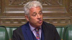 Det brittiska underhusets talman John Bercow hade fullt upp med att hålla styr på alla som talade i parlamentet under brexitdebatten 3.9.2019