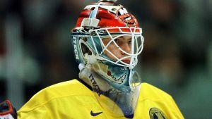 Tommy Salo hade sina bästa hockeyår i slutet av 90-talet. Den här bilden från OS i Nagano 1998.