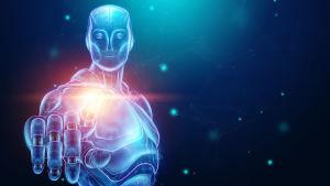 Konstnärens vision av en cybernetisk människa.