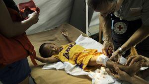 Fältsjukhuset kan ta emot maximalt 200 patienter per dag