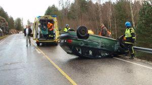 Trafikolycka på söda Salovägen.