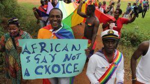 Gay pride-parad i Kampal i Uganda 2012