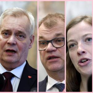 Partiledarna i Rinnes regering.
