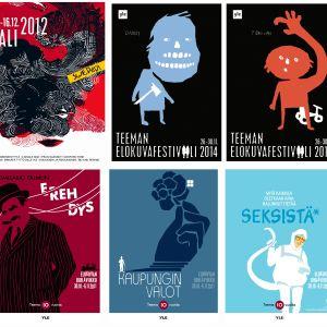 Kooste Teeman elokuvafestivaalijulisteista 2011–2015