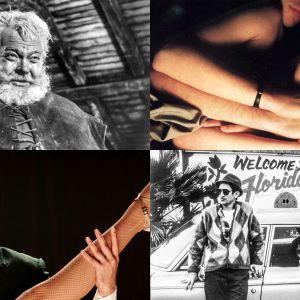 Kollaasi Teeman elokuvista keväällä 2018: Falstaff, Veronikan kaksoiselämä, Muukalaisten paratiisi, Viimeinen tango