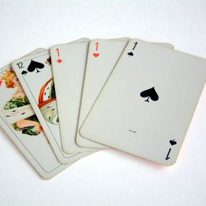 Fem spelkort