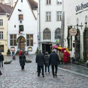 Gamla staden i Tallinn. Gamla torget (Vana turg).