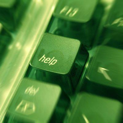 Help-knappen på ett tangentbord