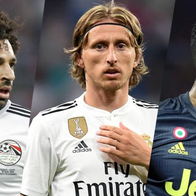 Mohamed Salah, Luka Modric ja Cristiano Ronaldo.