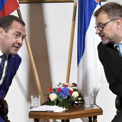 Suomen ja Venäjän pääministerit kertovat tapaamisestaan