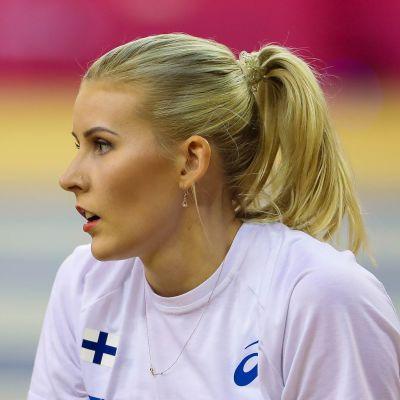 Kristiina Mäkelä halli-EM-kisoissa Glasgow'ssa maaliskuun alussa 2019.
