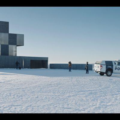 Digitaalisesti tehty hotelli Ivalo TV-sarjasta.