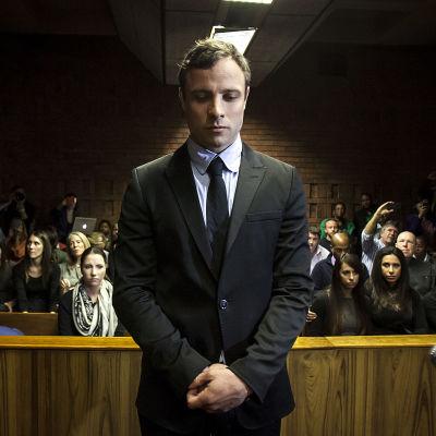Oscar Pistorius inför domstol i Pretoria 19 augusti 2013