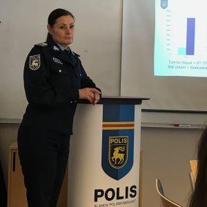 Polismästare Maria Hoikkala är nöjd med det arbete som utförts under narkotikaprojektet.