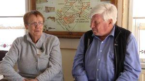 Till väster Lena Selén och Berndt Gottberg håller igång museet Degerby Igor.