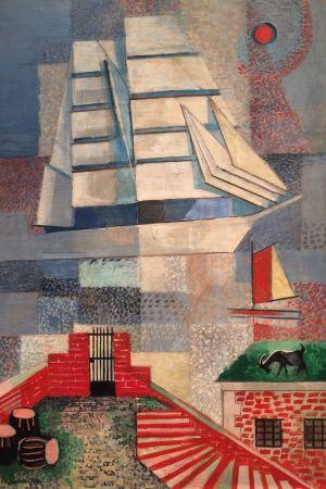 Jeanne Mammen, Segelschiff (Segelbåt), ca 1935-40