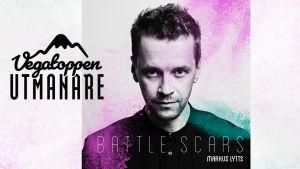 "Markus Lytts på skivomslaget till ""Battle scars""."