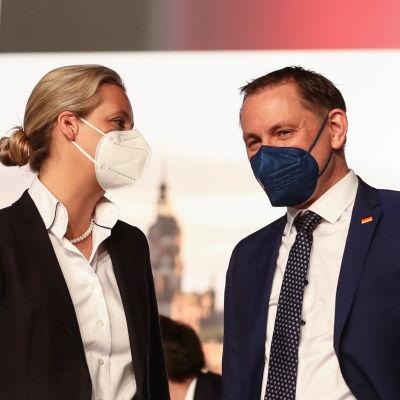 Alice Weidel och Tino Schrupalla.