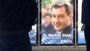 Den tyska politikern Markus Söders valaffisch