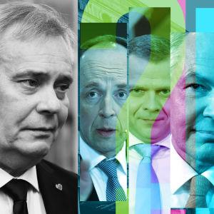 Kollage av partiledarna i de 6 största partierna