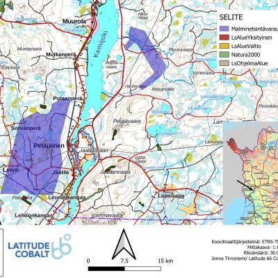 Latitude 66 Cobalt haluaa varata alueen, joka on merkitty karttaan sinisellä värillä.