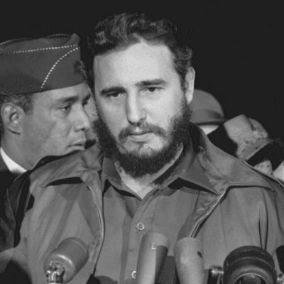 Fidel Castro vierailulla USA:ssa Washington DC:ssa vuonna 1959.