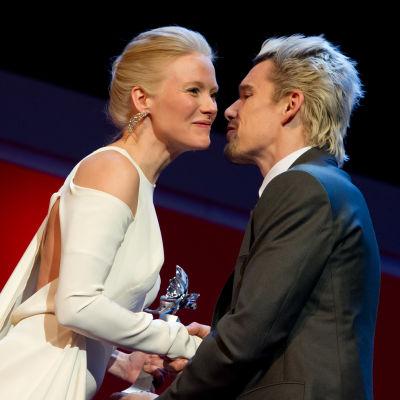 Laura Birn och Ethan Hawke på Berlinale-festivalen 2013.