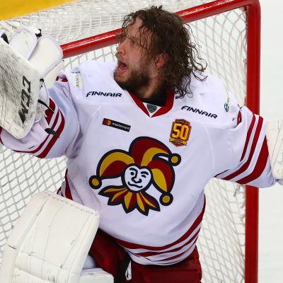 Karri Rämö storspelade i Jokeritmålet i KHL-slutspelet våren 2018.
