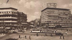 Potsdamer Platz i Berlin på trettiotalet
