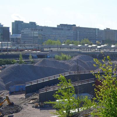 Stor byggarbetsplats i Mellersta Böle