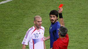 Rött kort åt Zidane