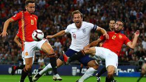 England mot Spanien.