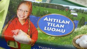 Pakkaus Ahtilan tilan luomu munia.