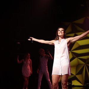 Mia Hafrén på scen