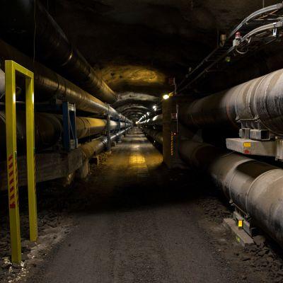 Helenin tunneli 50 metrin syvyydessä Helsingin katujen alla.